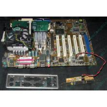 Материнская плата Asus P4PE (FireWire) с процессором Intel Pentium-4 2.4GHz s.478 и памятью 768Mb DDR1 Б/У (Химки)